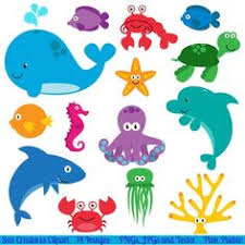 cute sea animals clipart. Wonderful Animals Sea Animal Clipart Clip Art Creatures Fish Throughout Cute Animals Clipart