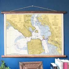 Vintage Nautical Chart Reproduction San Francisco