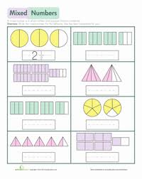 Mixed Numbers | Worksheet | Education.comThird Grade Fractions Worksheets: Mixed Numbers