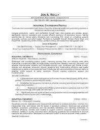 Industrial Engineer Resume Sample Sample Resume For An Industrial