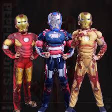 Superb Sale Iron Man 3 Patriots Muscle Costumes For Boys Children Superhero Iron  Man Halloween Cosplay Costume