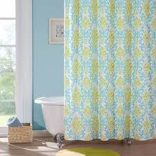 nice design blue and yellow shower curtain stylish ideas mi zone microfiber printed 72x72 in teal