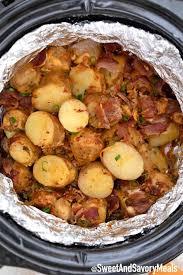 loaded slow cooker potatoes video