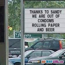 Funny Store Sign Thanks Hurricane Sandy - NoWayGirl via Relatably.com