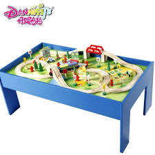 thomas the train table wooden game table track toy model roller coaster compatible thomas train in thomas the train table