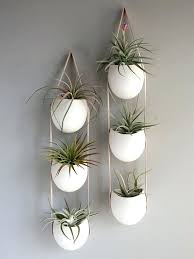 wall hanging planter leather and porcelain vertical planters indoor