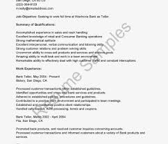 Bank Teller Resume No Experience Objective for Bank Teller Resume Exclusive Inspiration Skills On 49