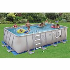 rectangle above ground pool sizes. ProSeries Softside Above Ground Pool Kit Rectangle Sizes B