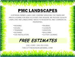Landscape Installation Contract Template Sample Lawn Mowing
