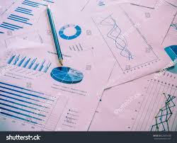 Colorful Graphs Charts Marketing Research Business Stock
