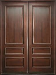custom front doorCustom Front Door  Double  Solid Wood with Dark Mahogany Finish