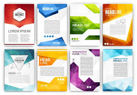 tamplate brochure templates collection vector free download