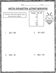 Partial Sum Addition: Triple Digits! – Created by Mrs. B