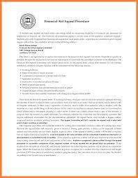 college financial aid appeal letter example appeal letter  8 college financial aid appeal letter example