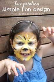 simple lion face painting design