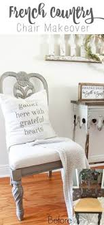 a step by step tutorial for creating a french country chair with chalk paint