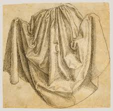 Drapery Drawing Study Of A Hanging Drapery Getty Museum