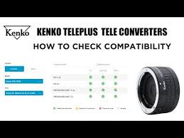 Sigma Teleconverter Compatibility Chart Kenko Teleplus Tele Converters How To Check Compatibility Explained