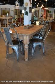 i love the use of the tolix cafe chair with the rustic table loft homereclaimed wood dining