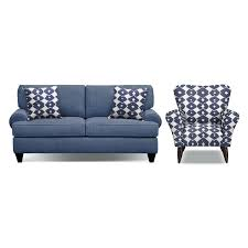 idea outdoor foam furniture or bailey blue innerspring sleeper sofa and accent chair set by 32 outdoor foam