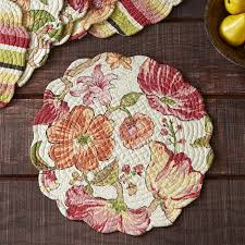 Stanmore Round Quilted Placemats & Reviews   Birch Lane & Stanmore Round Quilted Placemats Adamdwight.com