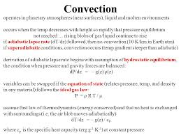 convection operates in planetary atmospheres near surfaces liquid and molten environments occurs when