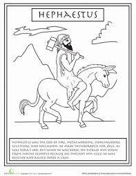 Small Picture Greek Gods Hephaestus Worksheet Educationcom