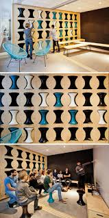 cool office interior design. This Office Has An Awesome Slot Wall For Storing Stools Pared En La Que Se Pueden Cool Interior Design W
