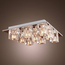 contemporary ceiling lighting. Lightinthebox K9 Crystal Ceiling Light With 9 Lights In Square, Modern Fixture Flush Mount For Study Room/Office, Living Room - Amazon.com Contemporary Lighting L
