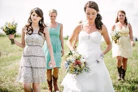 Pattern Bridesmaid Dresses  Rustic Wedding ChicCountry Western Style Bridesmaid Dresses