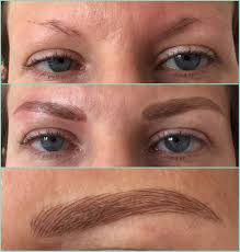 the semi permanent makeup industry ultra fine hairstrokes can be created for brows the strokes appear crisp and stay true after the healing process