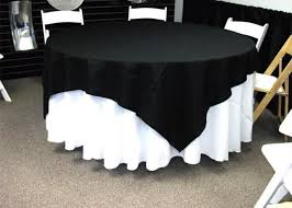 108 round linen with a 72 x 72 overlay on a 60 round table