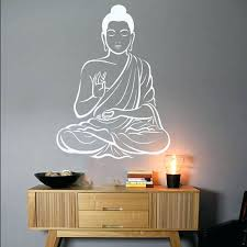 buddha wall decal buddhist es decals decor om art yoga