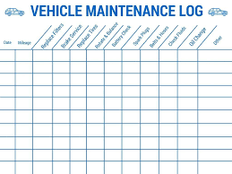 Spreadsheet Auto Maintenance Schedule Car Checklist Template Excel ...