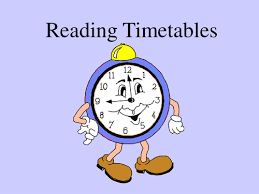 Image result for reading timetables cartoon