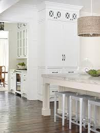 gray kitchen island with gray granite countertop
