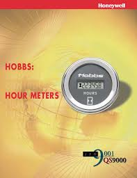 honeywell sensing and control hobbs hour meters