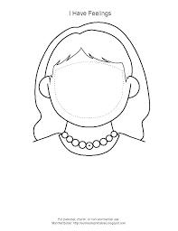 Blank Face Templates Mesmerizing clown face template printable naserico
