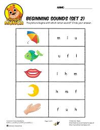 There are 5 sets for a total of 15 pages. Beginning Sounds Phonics Worksheet