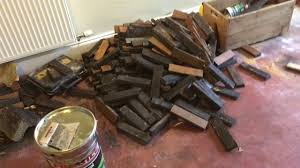 reclaimed parquet floor not removing the tar