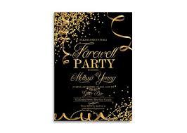 Farewell Invitation Farewell Party Invitation Goodbye Party Invitation Leaving Party Invitation Gold Sparklers Printable Digital