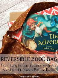 children s book bag tutorial with free pattern big enough tote for picture books easy