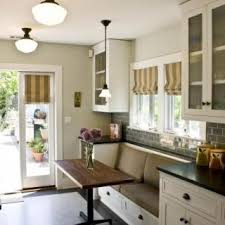 kitchen table with built in bench. Chairs In Your Kitchen? Use A Built-in Bench And Narrow Kitchen Table With Built