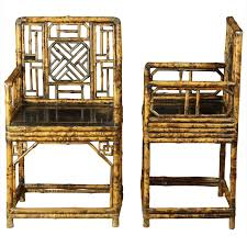 wonderful pair of late 19th century chinese bamboo chairs chinese bamboo furniture