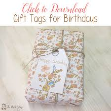 Free Printable Favor Tags Free Printable Birthday Gift Tags Just For You The Birch