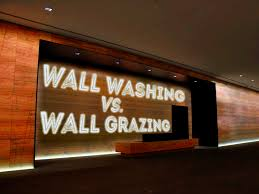 accent lighting wall washing vs grazing wall washing lighting g7 washing