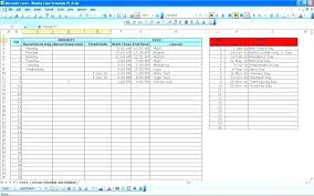 daily weekly planner excel template cl schedule
