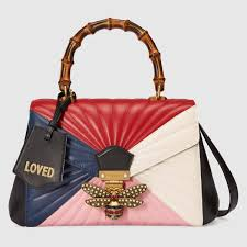 gucci bags fall 2017. gucci multicolor quilted queen margaret bamboo top handle bag bags fall 2017