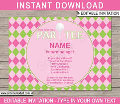 Golf Invitation Template Golf Invitation Template Birthday Party Pink Girls Printable