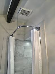 shower rods chrome corner shower rod with heavy round brackets and swivel ceiling support in polished